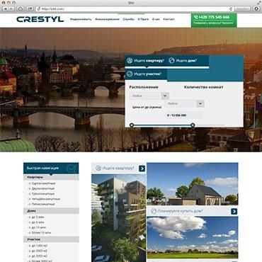 Сайт компанії «Crestyl»