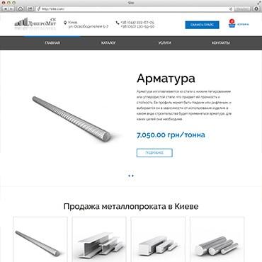 Сайт компанії «Металлбуд-постач»